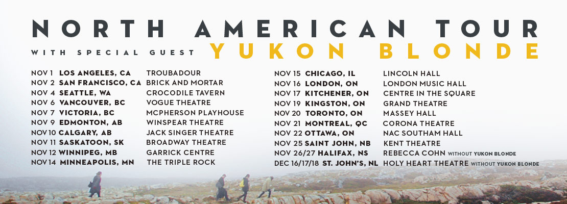 Hey Rosetta! North American tour with Yukon Blonde